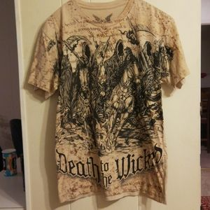 Apprime courage above all graphic tee medium
